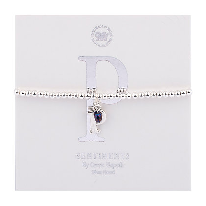 Letter 'P' Sentiment Bracelet