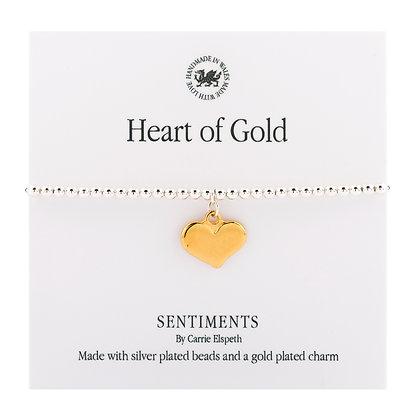 Heart of Gold Sentiment Bracelet
