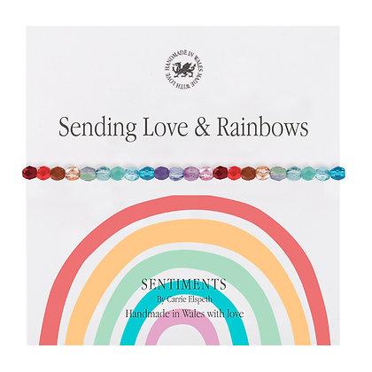 Sending Love & Rainbows Sentiment Bracelet