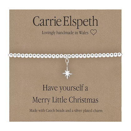 Have yourself a Merry Little Christmas Sentiment Bracelet