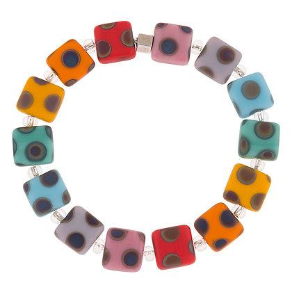 Dotty Squares Bracelet (more colours available)