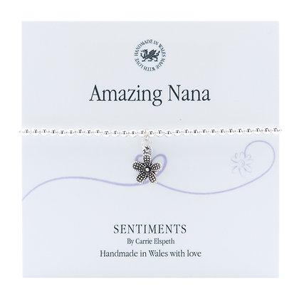 Amazing Nana Sentiment Bracelet