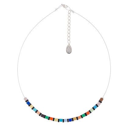 Cats Eye Cubes Links Necklace (More Colours Available)