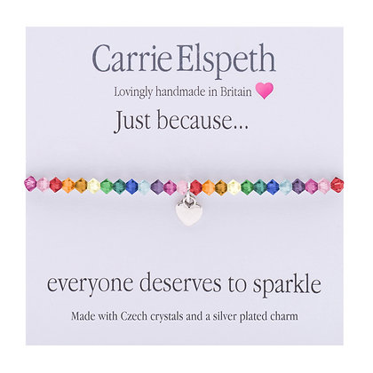 Just because... everyone deserves to sparkle Sentiment Bracelet