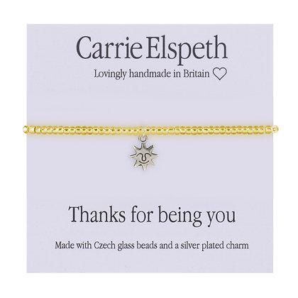 Thanks for being you Sentiment Mini Bracelet
