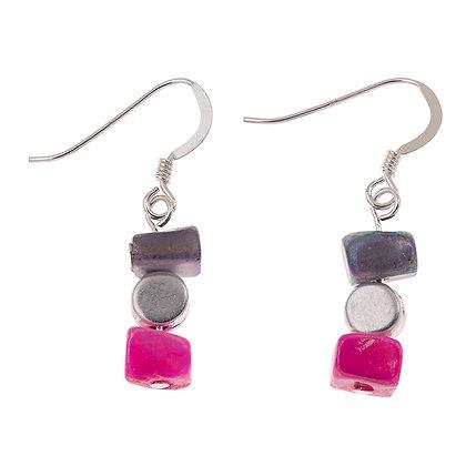 Pink/Purple Summer Shells Earrings