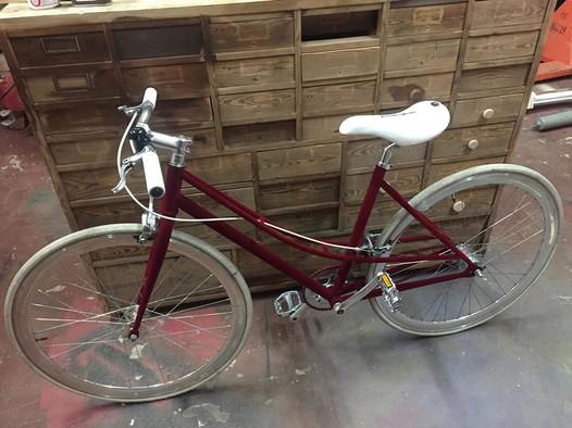 Flokowany rower