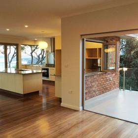 Bi-fold doors enlarge a space