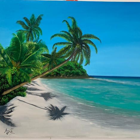 Ruperi valu ( golden sand ) madache ban ( The palm Tree )