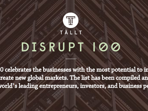 Flexciton makes Disrupt 100 list!