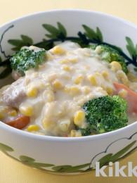 Chicken and Corn Cream Stew