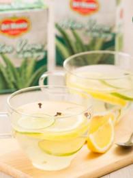 Honey Lemonade Clove Drink with Aloe Vera