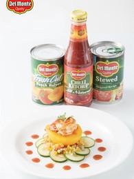 Spicy Prawn with Peach Salsa
