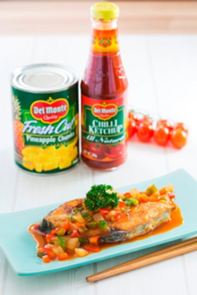Sweet and Sour Fish Fillet with Pineapple Salsa