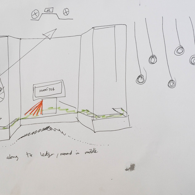 Exhibition Ideas Sketch with floating rings