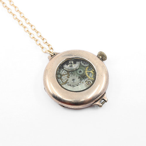 Steampunk Antique Pocket Watch Necklace - Javannes