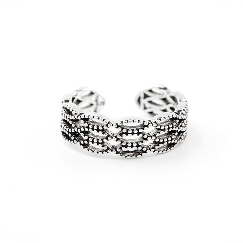Sterling Silver Braided Woven Ring