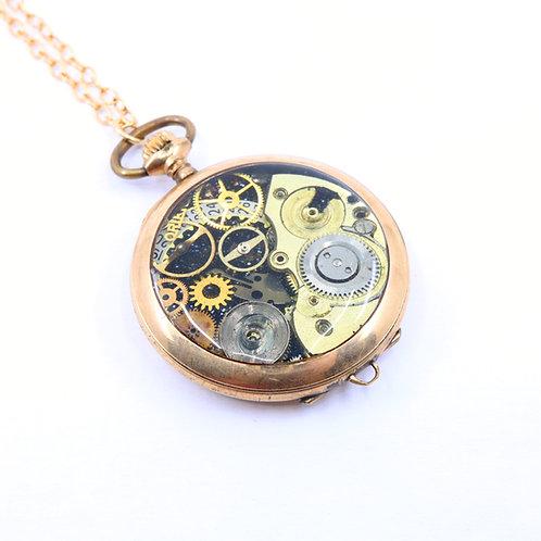Steampunk Antique Pocket Watch Necklace - Knickerbooker