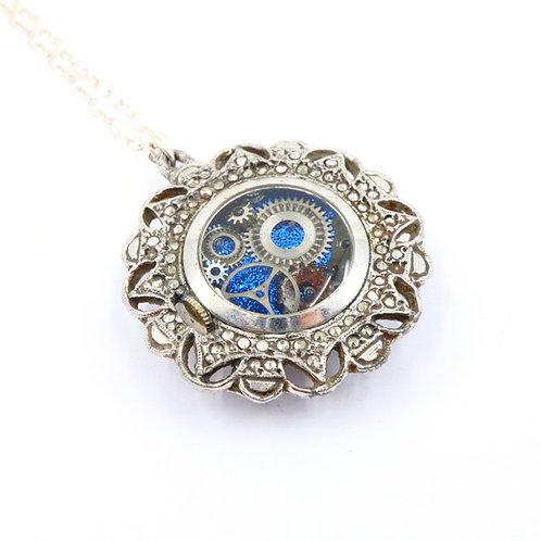 Steampunk Antique Pocket Watch Necklace - Medana