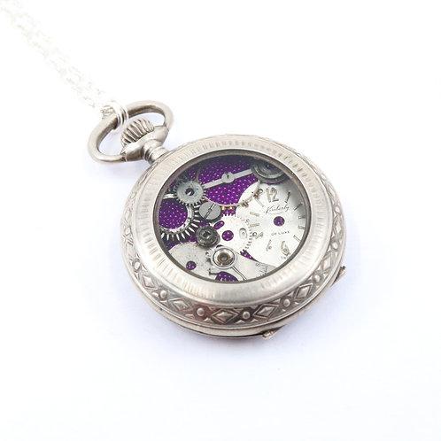 Steampunk Antique Pocket Watch Necklace - Eylindre
