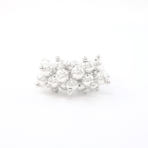 Sterling Silver Bubble Bead Ring
