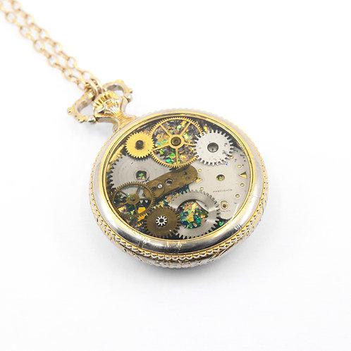 Steampunk Antique Pocket Watch Necklace - Lucien