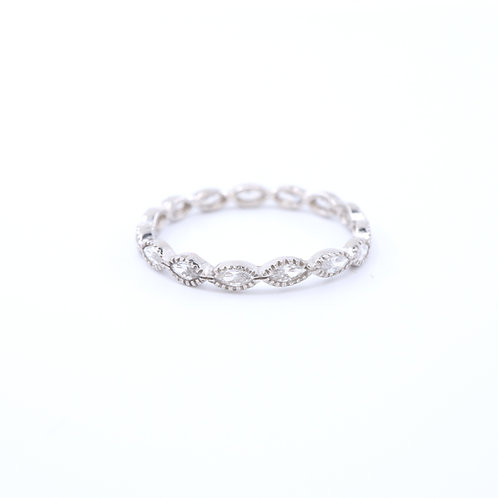 Oval Cubic Zirconia Band Ring