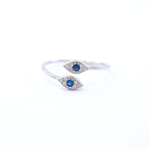Evil Eye Overlapping Ring