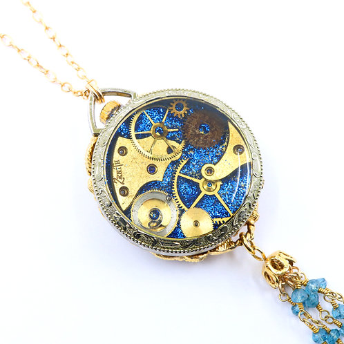 Steampunk Antique Pocket Watch Necklace - Majestime