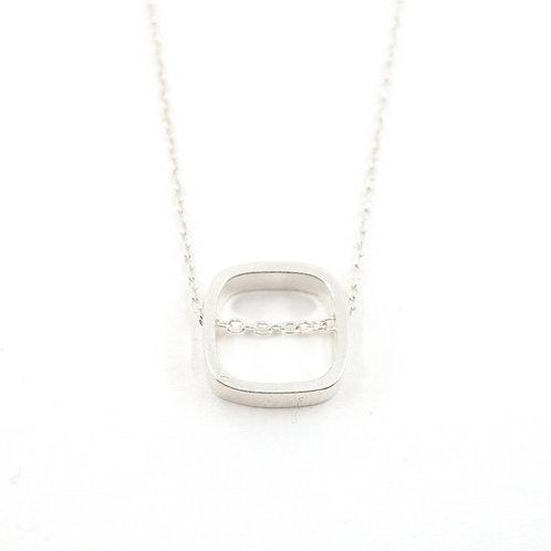 Dainty Plain Square Necklace