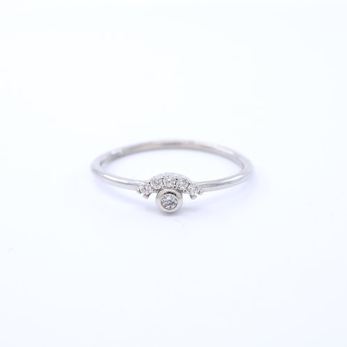 Clear Cubic Zirconia Evil Eye Ring