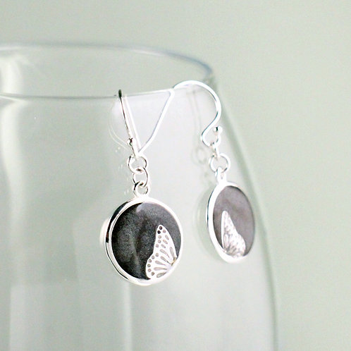 Dancing Butterfly Silver Earrings