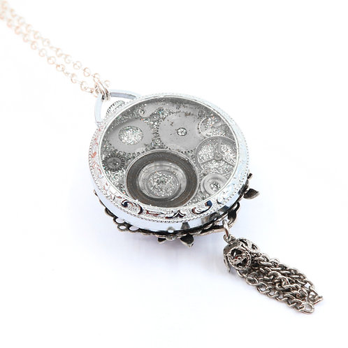Steampunk Antique Pocket Watch Necklace - Swiss