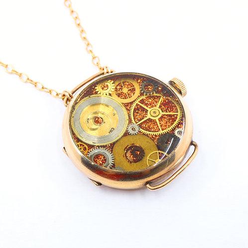 Steampunk Antique Pocket Watch Necklace - Keystone