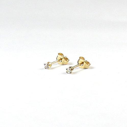 14K Gold-FilledCZ Ear Studs