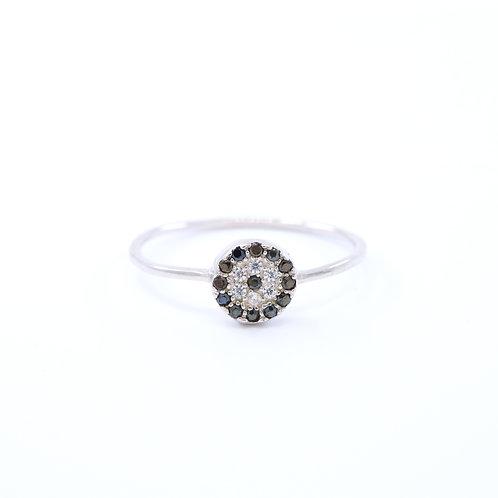 Black Cubic Zirconia Evil Eye Ring