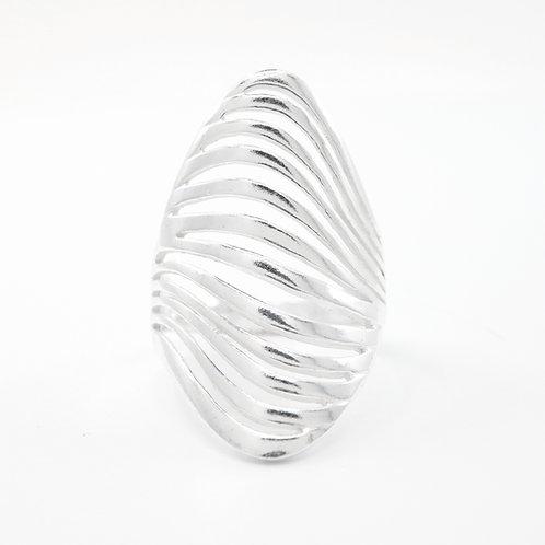 Sterling Zebra Striped Ring