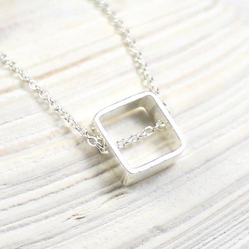 Square pendant necklace vivi sun jewelry new york handmade jewelry square pendant necklace aloadofball Images