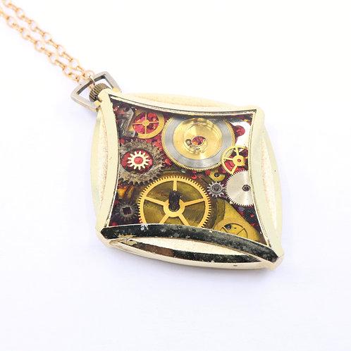Steampunk Antique Pocket Watch Necklace - Endura