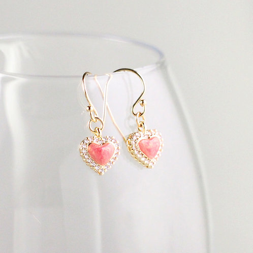 Candy Glow Heart Earrings