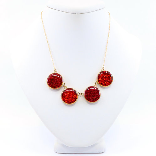 Gold Composition Statement Necklace - Small
