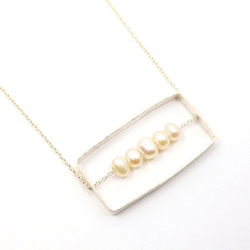 Rectangle Freshwater Pearl Necklace