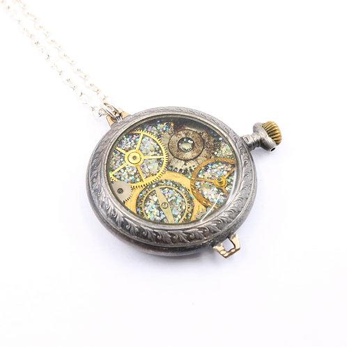 Steampunk Antique Pocket Watch Necklace - Allemann