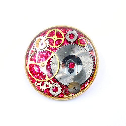 Steampunk Watch Gear Brooch