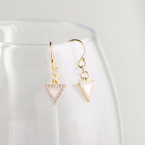 Candy Glow Triangle Earrings