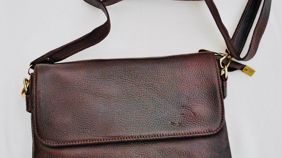 Full Grain Leather Sling Messenger Bag