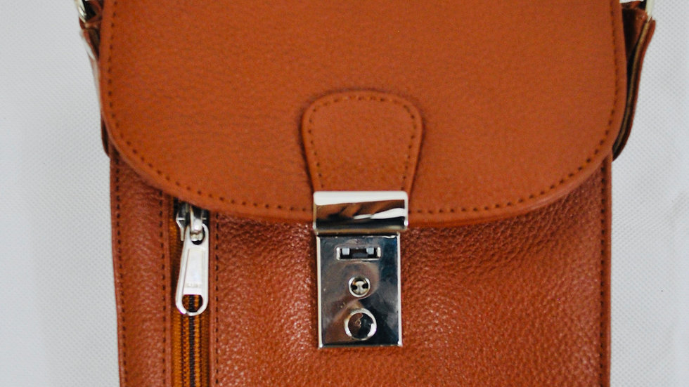 Travel 'Wizard' Genuine Leather Lockable Bag