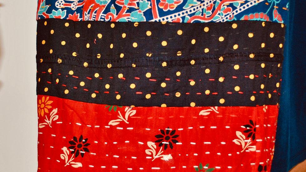 Kantha Long Sling Shoulder Bag/ Jhola Bag/ Yoga Bag