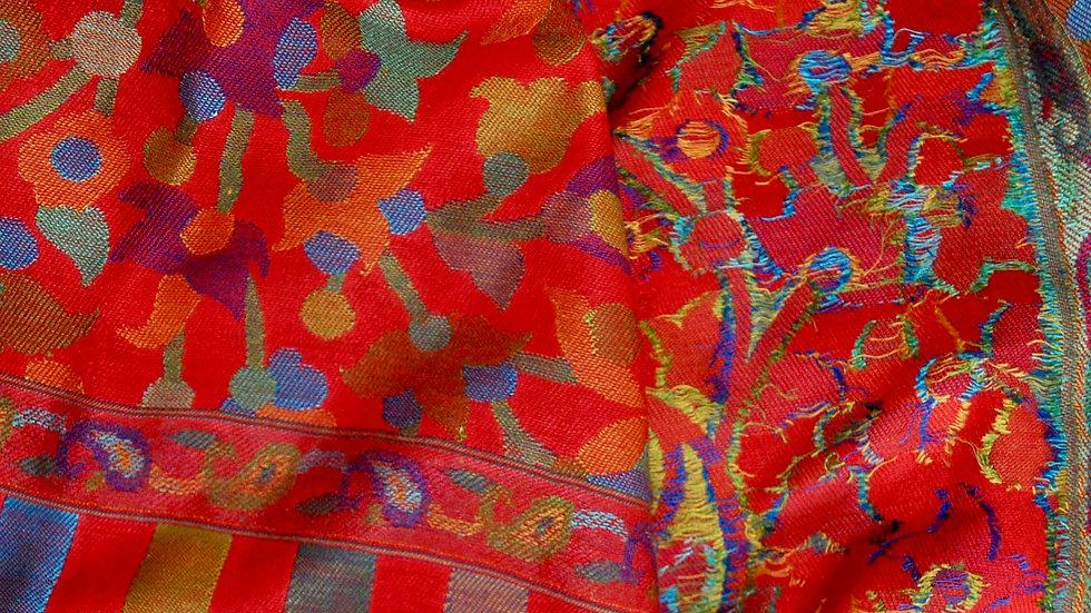 Red Kani Pashmina scarf