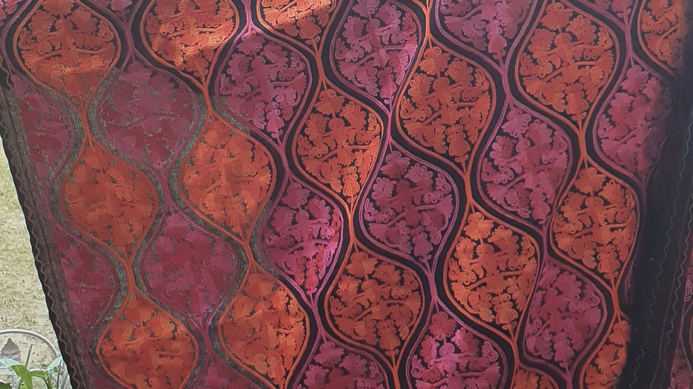 Handmade Jamawar full embroidered scarf